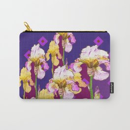 Iris Garden In Shades Of Purple Carry-All Pouch