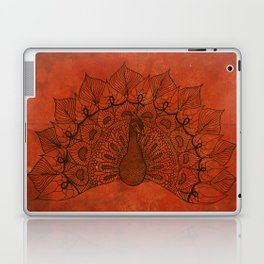Doodle peacock on red Laptop & iPad Skin