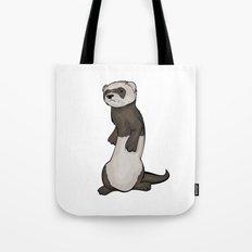 Wild Ferret Tote Bag