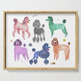 Poodles by Veronique de Jong Serving Tray