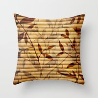 bamboo Throw Pillows featuring Bamboo by Robin Curtiss