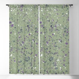 Green. Colorful drops. Blackout Curtain