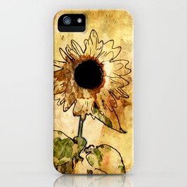 Sunflower Art iPhone Case