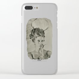 Oh Deer - 8x10 Tintype Photo Clear iPhone Case