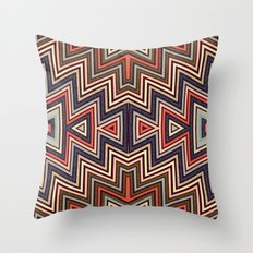 Aztec Symmetry Throw Pillow