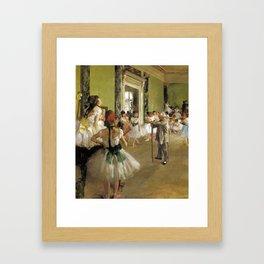 Edgar Degas The Dance Class Framed Art Print