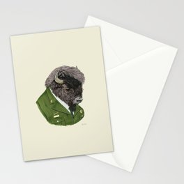 Bison art print by Ryan Berkley Stationery Cards