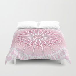 Dusky Pink Mandala Duvet Cover