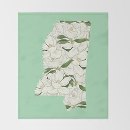 Mississippi in Flowers Throw Blanket
