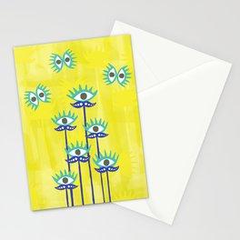 Evil Eye Nazar protective Garden Yellow Stationery Cards