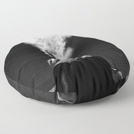 A New Year's Smoke (B&W) Floor Pillow