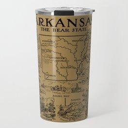 Vintage Map of Arkansas (1912) - Tan Travel Mug