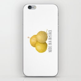 Needle In A Haystack iPhone Skin