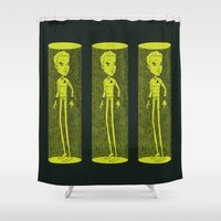 captain hook Shower Curtains featuring Captain by Derek Eads