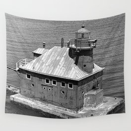 Sturgeon Bay Canal North Pierhead Lighthouse Wall Tapestry