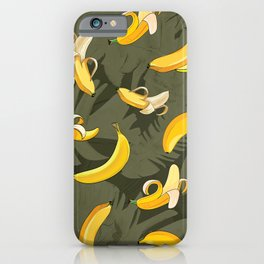 Banana & Leaves Pattern 3 iPhone Case