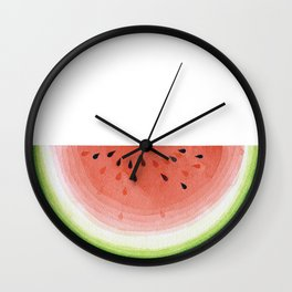 Watermelon, fruit illustration kitchen watercolor painting graphic Wall Clock