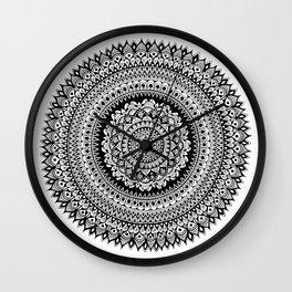 Tribal Inspired Mandala B Wall Clock