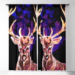 Evil Ghost Deer Blackout Curtain