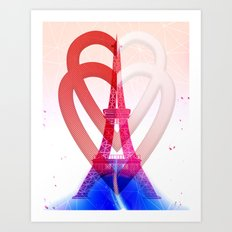 PARIS LOVE Art Print
