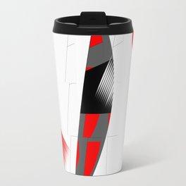 black and white meets red Version 15 Travel Mug