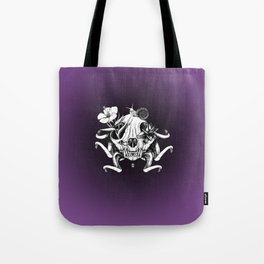 The Skull the Flowers and the Snail Tote Bag