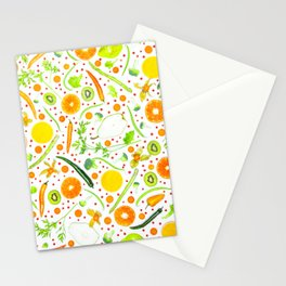Fruits and vegetables pattern (13) Stationery Cards