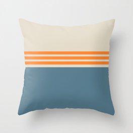 Modern Minimal Striped Blue 03 Throw Pillow
