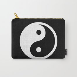 Yin Yang Black White Carry-All Pouch