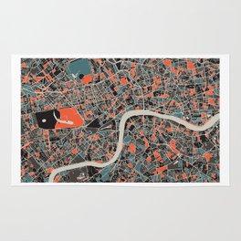 London Multicoloured Print Rug