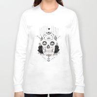 dia de los muertos Long Sleeve T-shirts featuring Dia de los muertos by Thrashin