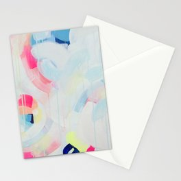 Instant Crush - Abstract painting by Jen Sievers Stationery Cards