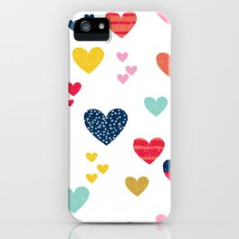 cheerful hearts iPhone Case