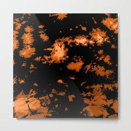 Gothic Tangerine tie-dye print Metal Print