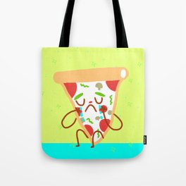 Sad pizza Tote Bag