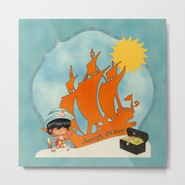 Surfer Sailor Boy Beach Pirate Metal Print