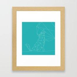 Poly-Wolf Framed Art Print