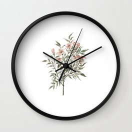 Small Floral Branch Wall Clock