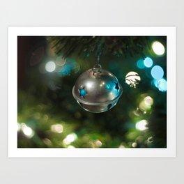 Christmas bell ornament Art Print