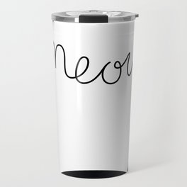 Cattitude B&W Travel Mug