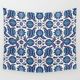 Iznik Pattern Blue and White Wall Tapestry