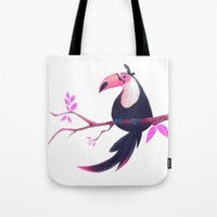 toucan Tote Bags featuring Toucan by Katikut