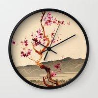 sakura Wall Clocks featuring Sakura by Ned & Ems