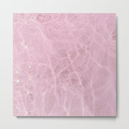 Pink Water Metal Print