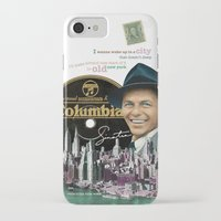 frank sinatra iPhone & iPod Cases featuring Frank Sinatra - New York by Dots Studio