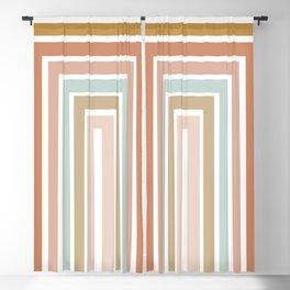Geometric Rainbow 116 Blackout Curtain