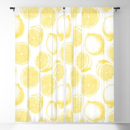 Hand drawn lemon pattern Blackout Curtain