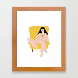 Pyjama Sunday Framed Art Print
