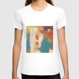 Rustic Orange Teal Abstract T-shirt