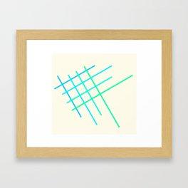 Little Blue Fish Framed Art Print